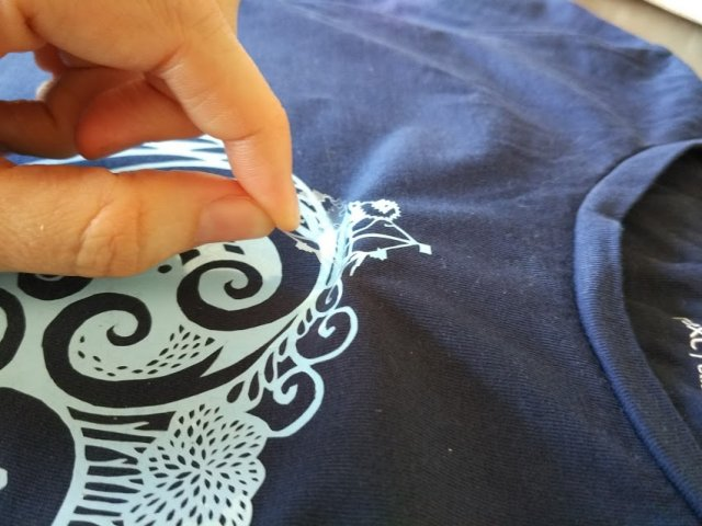 חולצה תוצרת בית לעצמי או מתחת לפני הים
