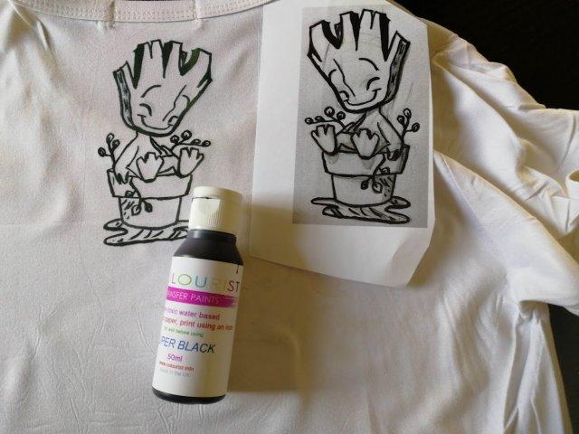צבע מסוג מגניב במיוחד להדפסה על חולצות